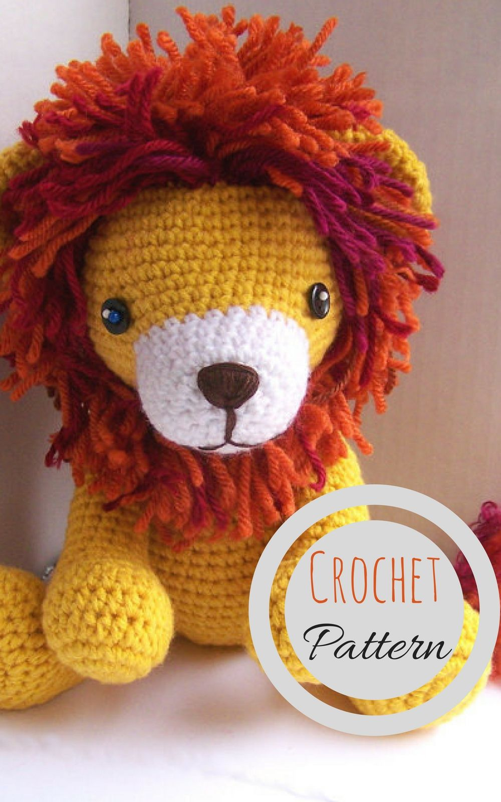 Instant Download Crochet Pattern-Baby Lion-Toy Lion-Amigurumi Lion-DIY  Crochet Toy-Stuffed Toy Animal-Crochet Stuffed Lion  crochet  ad e5df727ea59