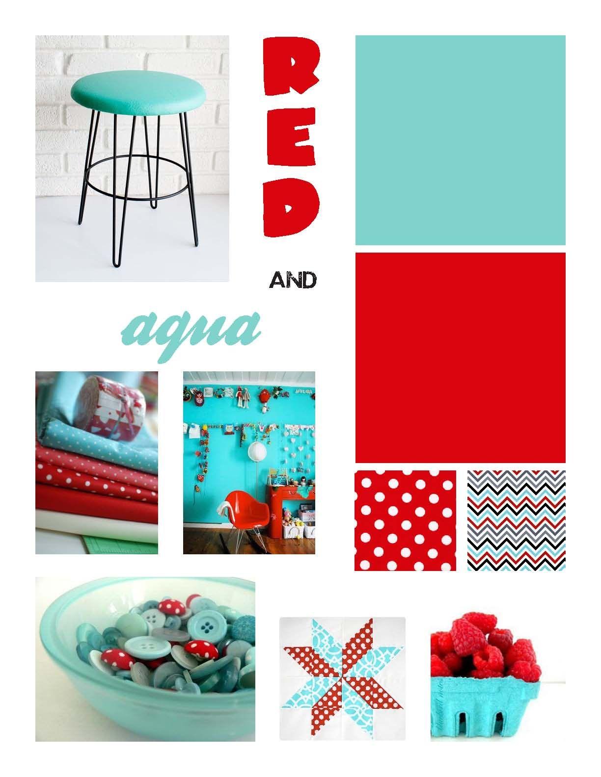 red and aqua | scamp ideas | Pinterest | Aqua, Bed storage and ...