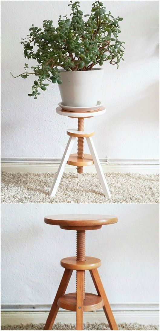 10 Easy DIY Outdoor Plant Stands To Show Off Those Patio Plants In Style  #plants #Stand_repurposed #diyplantstand