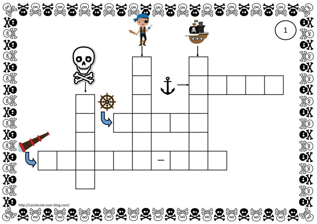 Mots Croises Pirates Carolecole Over Blog Com Mots Croises Jeu De Memory Pirate