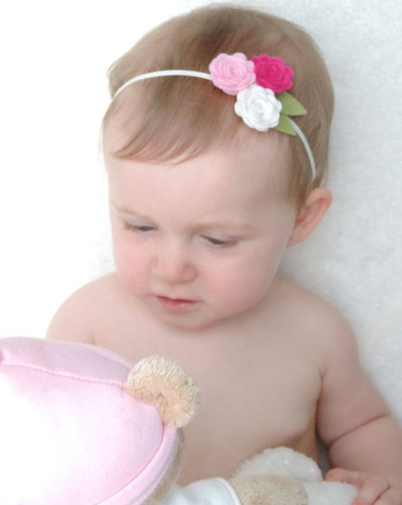 Felt Flower Headband Felt Baby Headband Newborn Headband Baby
