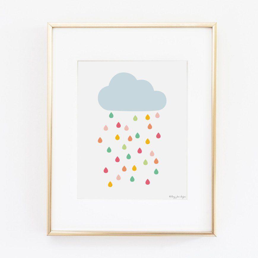 affiche chambre b b nuage pluie multicolore penny jane design chambre enfant pinterest. Black Bedroom Furniture Sets. Home Design Ideas
