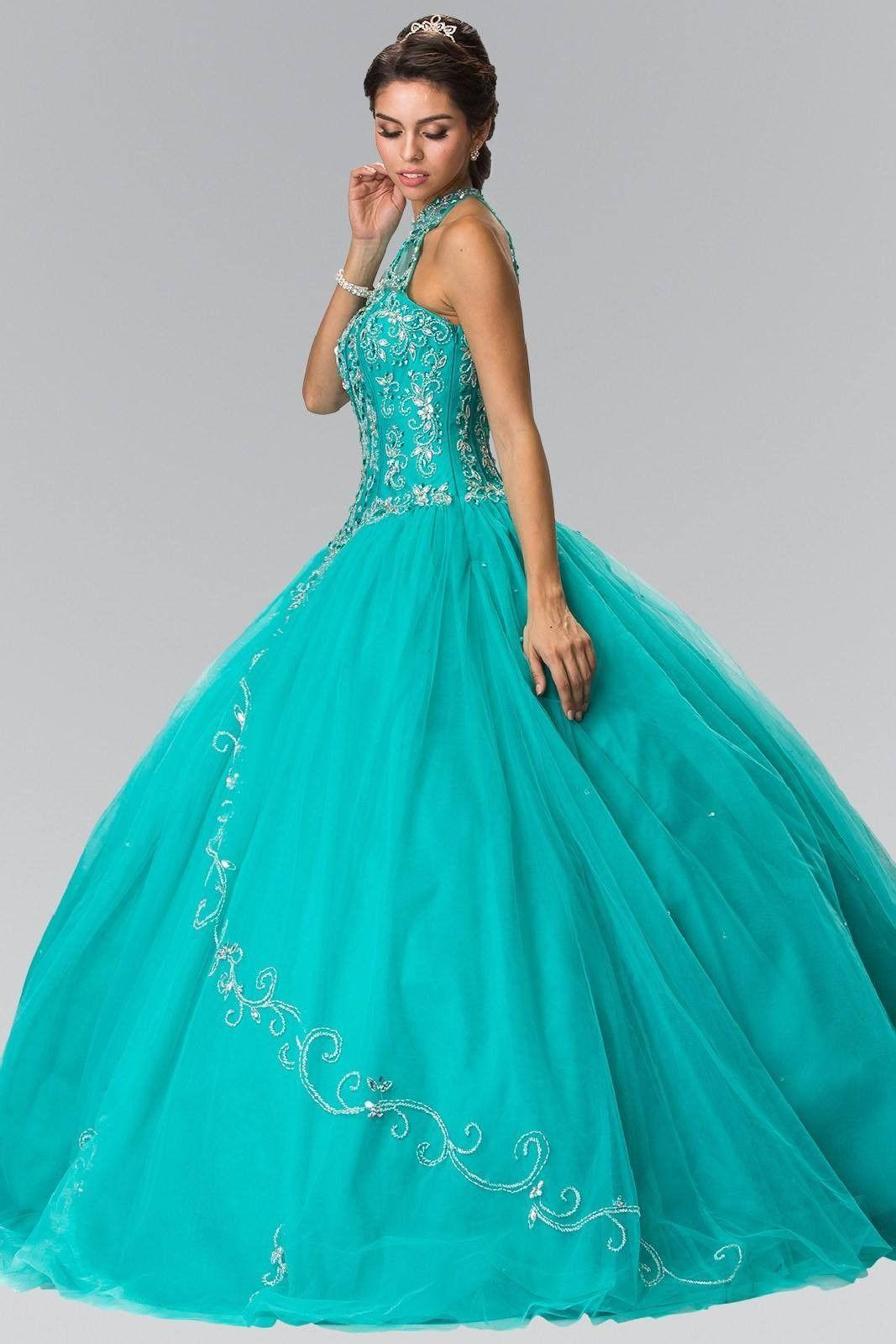 Cheap Ball gown prom dress Quinceanera sweet 16 dress gl2348aq