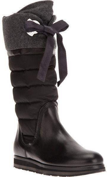 Women s Black Quilted Knee High Boot   Strut   Pinterest   Boots ... 6c4d2f585e5