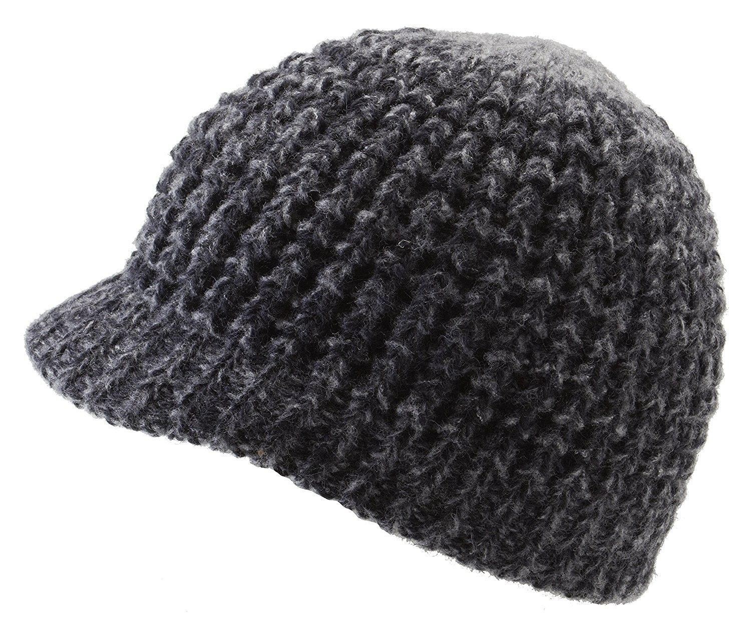 31d824e0291 Classic Men s Warm Winter Hats Thick Knit Cuff Beanie Cap With Lining Black  C712MRGYO67