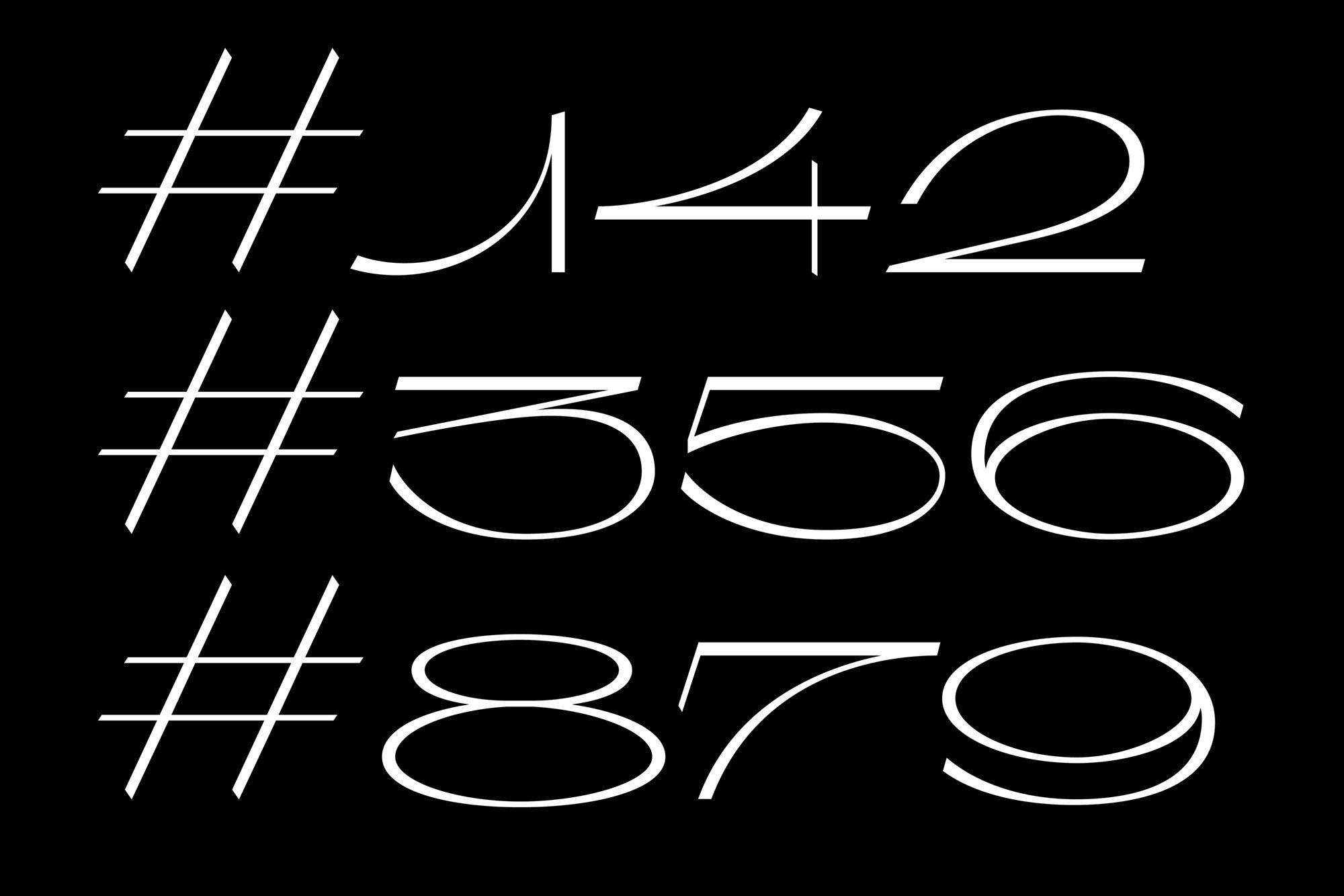 Laura Csocsan Typeface, Typeface logo, Typographic layout