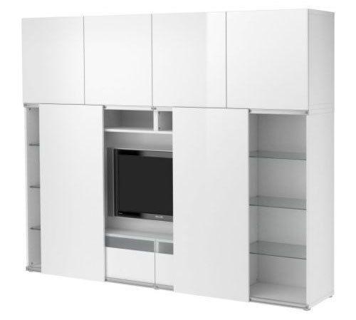 BESTÅ TV storage combo with sliding doors IKEA Sliding doors save - armoire ikea porte coulissante