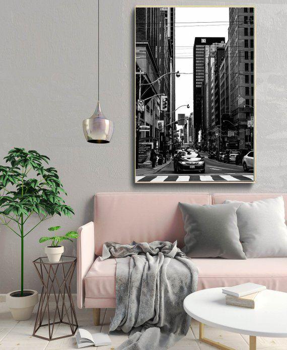 Toronto Print, urban decor, black and white, architecture wall art