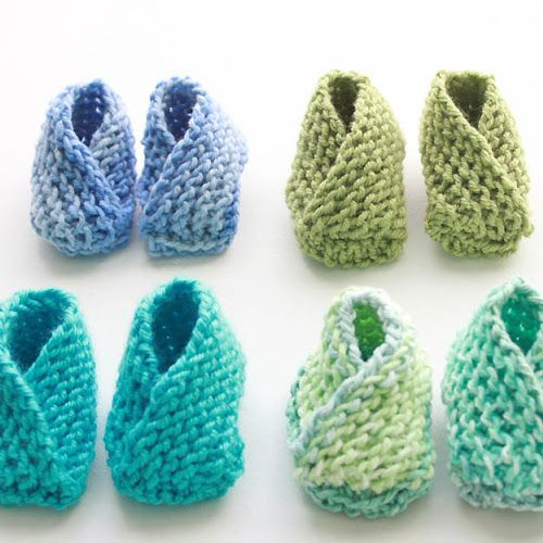 Free Knitting Pattern The Easiest Baby Booties Ever By Gina Michele