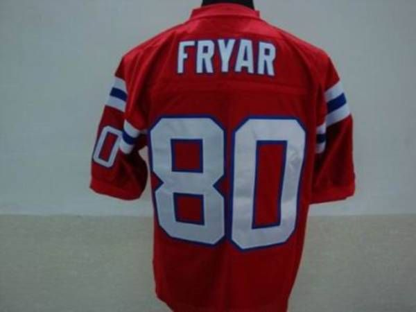 brand new a60fa 46dc8 Mitchell and Ness New England Patriots 80 Irving Fryar Red ...