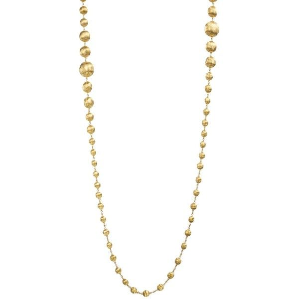 Marco Bicego 18K Yellow Gold Africa Bead Necklace, 36 ($8,000) ❤ liked on Polyvore featuring jewelry, necklaces, gold bead necklace, yellow gold necklace, 18k necklace, 18k yellow gold necklace and graduation necklace