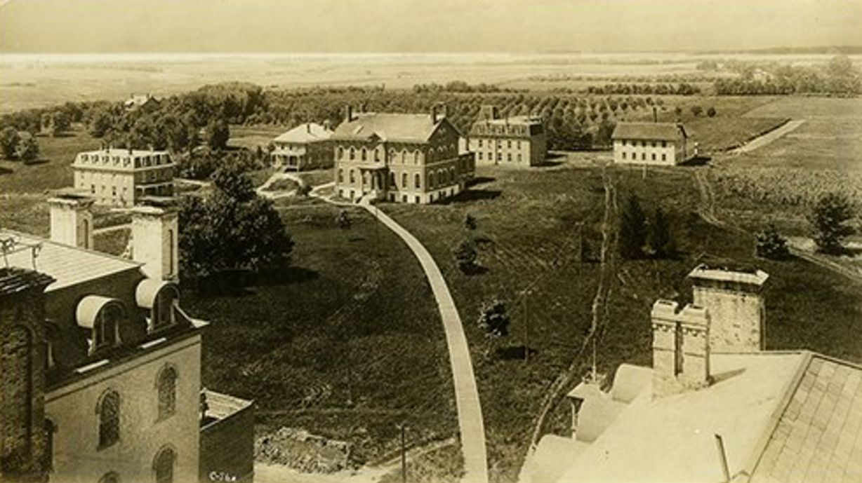 1888 Aerial View Of Iowa Agricultural Colege Campus In Ames Ia