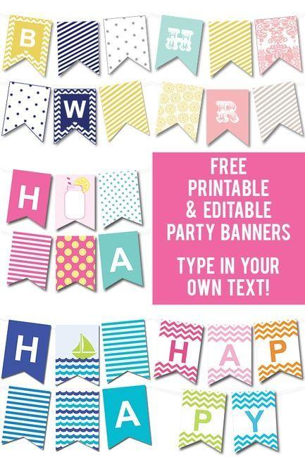 Free Printable Editable Party Banners Printables