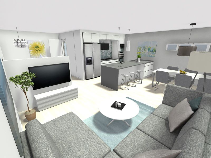 case study roomsketcher vip user christer vedo remodeled his kitchen and bathroom to add his. Black Bedroom Furniture Sets. Home Design Ideas