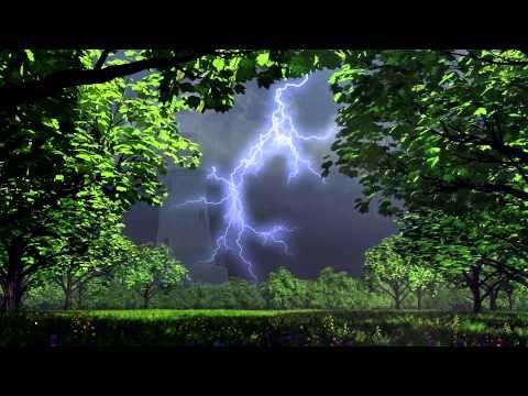 1 Hour Thunder and Rain with Alpha Brainwave Entrainment