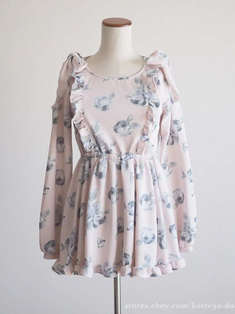 LIZ LISA Spring Off-shoulder Rose OP Tunic Dress Hime gyaru Sweet Lolita Japan #LIZLISA #PeplumTunic #Party