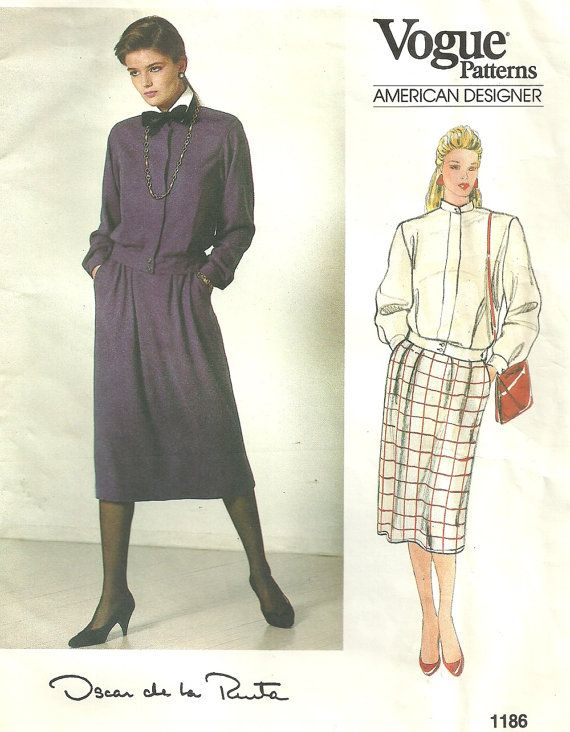 Vogue 1186 Vintage Designer Sewing Pattern By by studioGpatterns ...