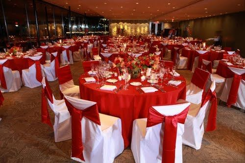 Red table valentines day ideas joint family very romantic for Valentines dinner party ideas