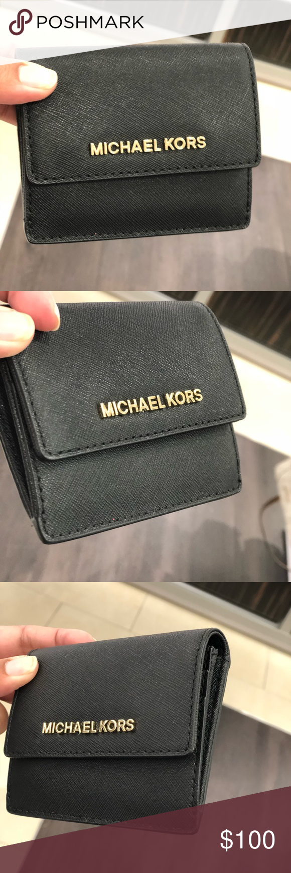 9f23399071cd Michael kors jet set travel ID card case keyholder NWT MICHAEL MICHAEL KORS  JET SET TRAVEL CARD CASE ID KEY HOLDER IN Black RETAIL $118.00+ tax NEW W/  TAG, ...