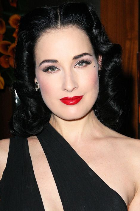 """Dita Von Teese    Whether shiny or matte, Von Teese is known for her expertly painted red lips. """"The first time I wore red lipstick was in the '80s, when everyone was wearing pearly beige-y pinks,"""" she says. """"I was completely bowled over by the splash of color it gave, and I haven't stopped wearing it since."""" To maintain her appearance, Von Teese stockpiles tubes of her favorite rouge hues and has """"at least five drawers"""" of lipstick."""