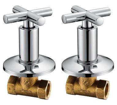 Royal H H Concealed Shut Off Valve Straight With Modern Cross