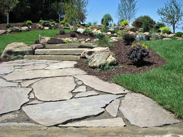Flagstone Patios And Walkways | Natural Flagstone Walkway Paver Inlay  Walkway Paver Walkway To Patio .
