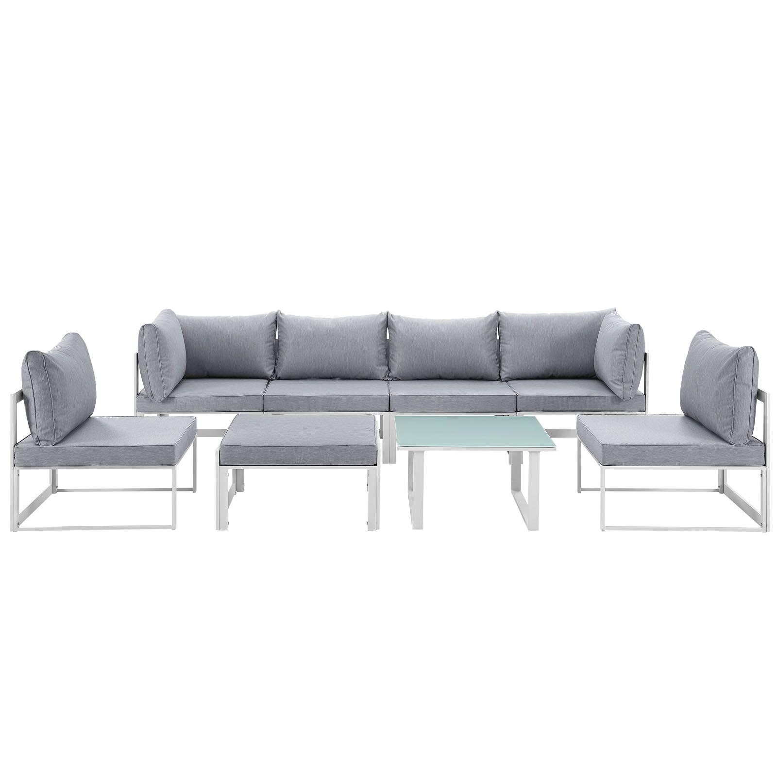 Modway Furniture - Fortuna 8 Piece Outdoor Patio Sectional Sofa Set ...
