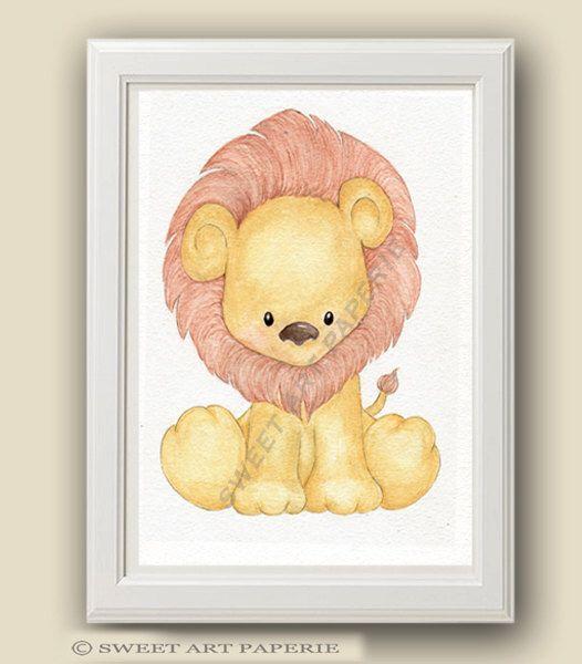 Baby Lion - Safari Nursery Art - Nursery Decor - PRINT - Safari ...