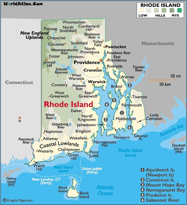 Providence Rhode Island Beaches: 'The Ocean State': Capital City
