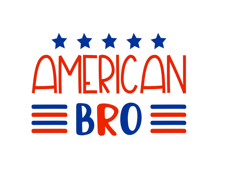 Custom American Bro Iron On Heat Transfer Vinyl USA Th Of July - Custom vinyl decals for tee shirts