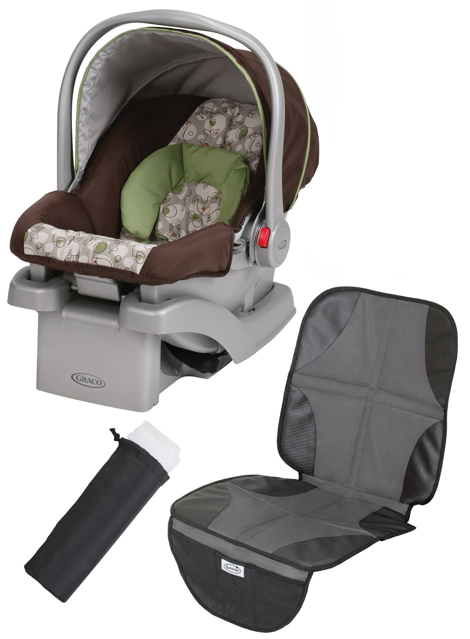 Graco SnugRide Click Connect 30 Infant Car Seat With Mat Carrier Netting Zuba