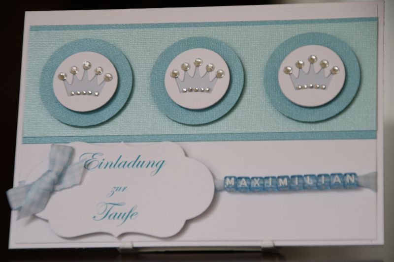 Einladungskarte Taufe Jungen Prinz