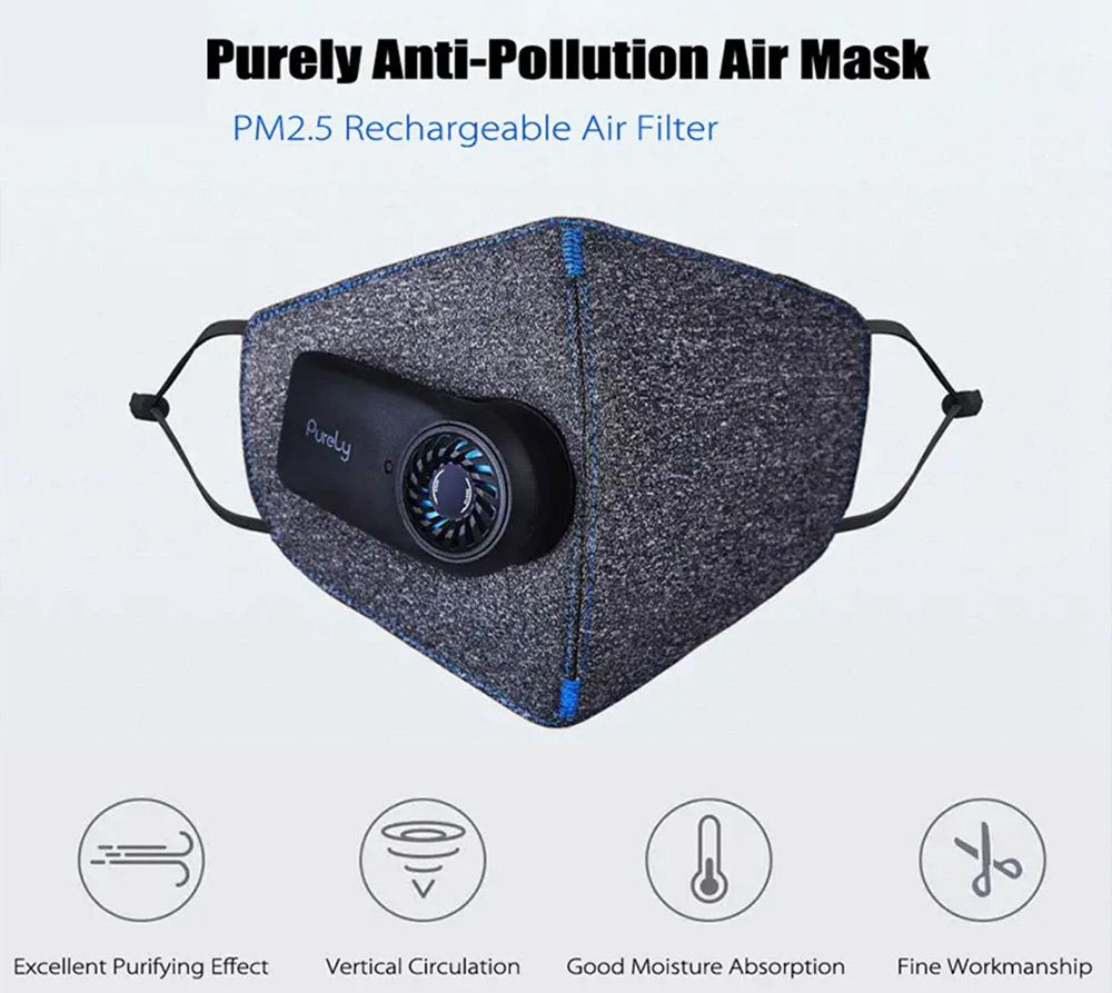 Xiaomi Purely Reusable Washable Electric N95 Mask Black in