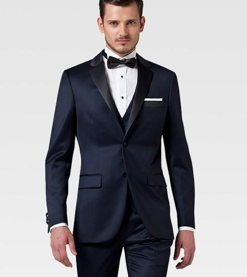 Image Custom Made Black Wedding Suits For Men Tuxedos Notched Lapel Mens Two On Groom Gallery Photos Of
