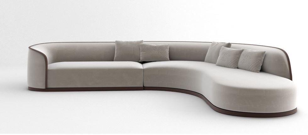 Rugiano Pierre Sofa Sofa Curved Sofa Cushions On Sofa