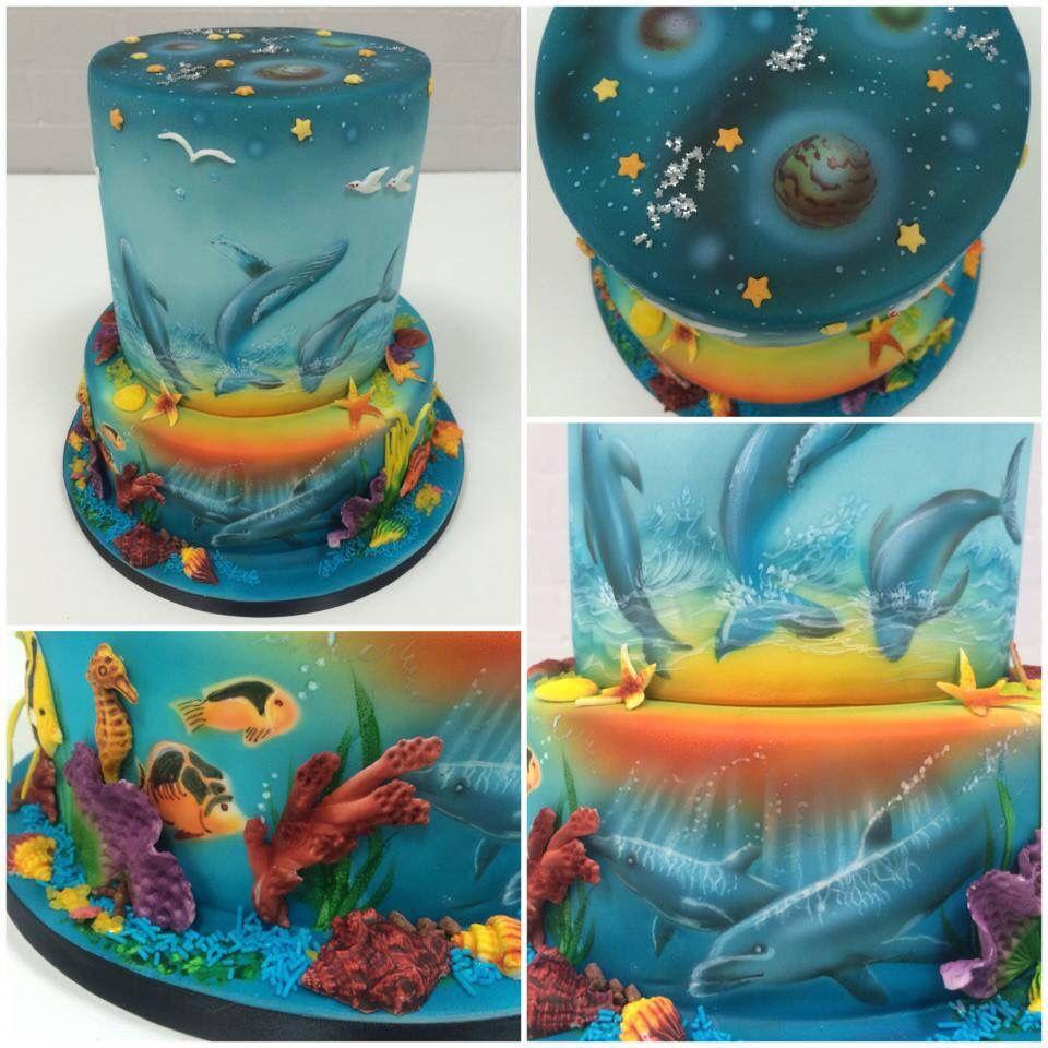 Airbrush cake airbrush cake beautiful cakes food art