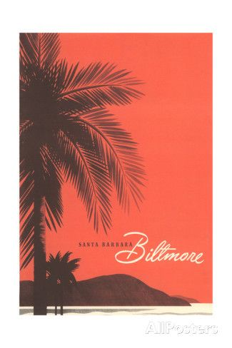 Travel Poster for Biltmore Hotel Taidevedos