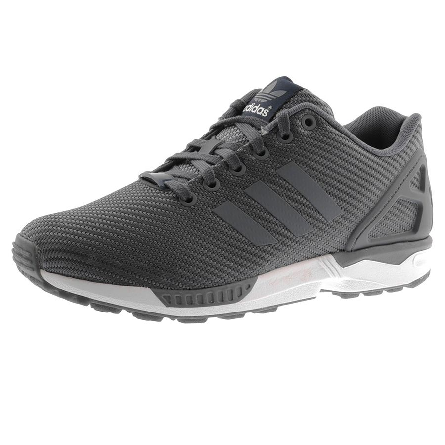 Adidas Onix Originals ZX Flux Trainers In Onix Adidas Gris, Full front lace 791188