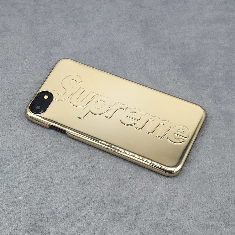 supreme street fashion logo metal case for iphone 7 7plus. Black Bedroom Furniture Sets. Home Design Ideas