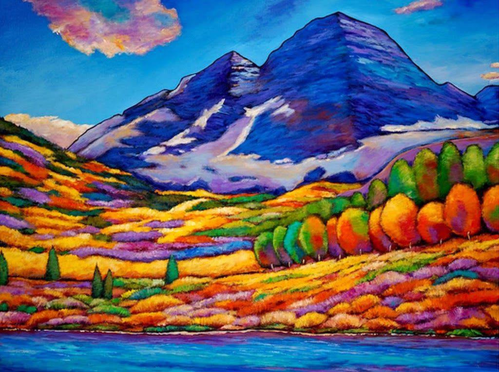 Cuadros modernos pinturas paisajes realistas pintados al for Minimal art obras y autores