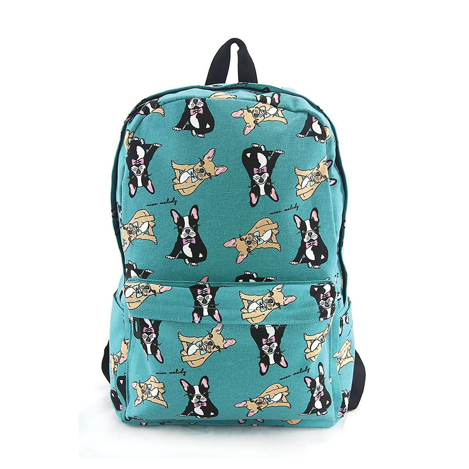 Boston terrier backpack in canvas material find out more