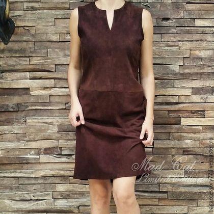 1cb25024a12 Платья ручной работы. Заказать Платье из натуральной замши. bagaccessory77. Ярмарка  Мастеров. Платье из кожи
