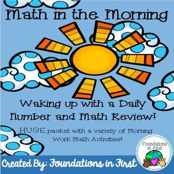 Math in the Morning- Daily Practice and Review | Math facts, Math ...