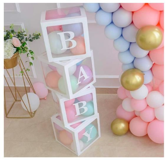 Baby Shower Boxes Party Decorations BABY Blocks Baby Shower | Etsy