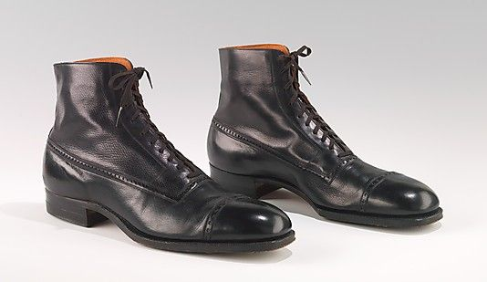 Boots (Balmorals)  Attributed to Hurd Shoe Co. Date: 1915–25