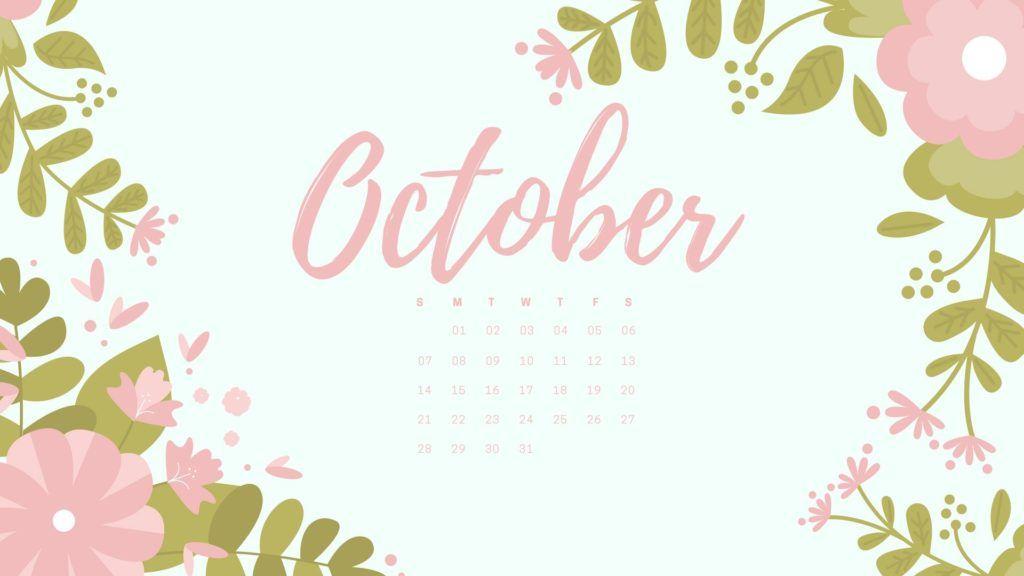 Free October 2018 Calendar Hd Desktop Wallpapers Calendar Wallpaper October Wallpaper Desktop Wallpaper
