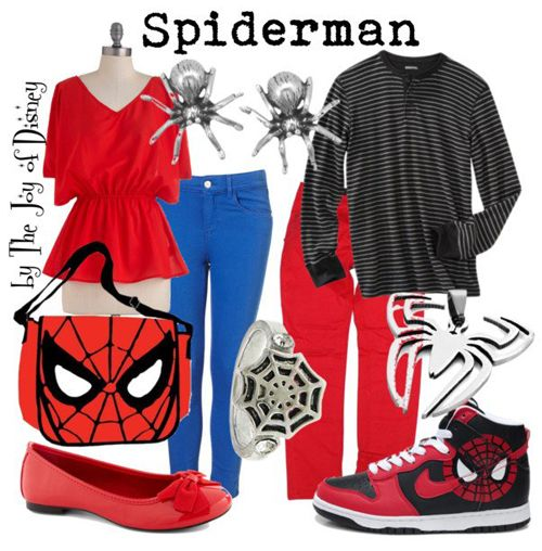 Casual outfits for girls and boys inspired by Spiderman!
