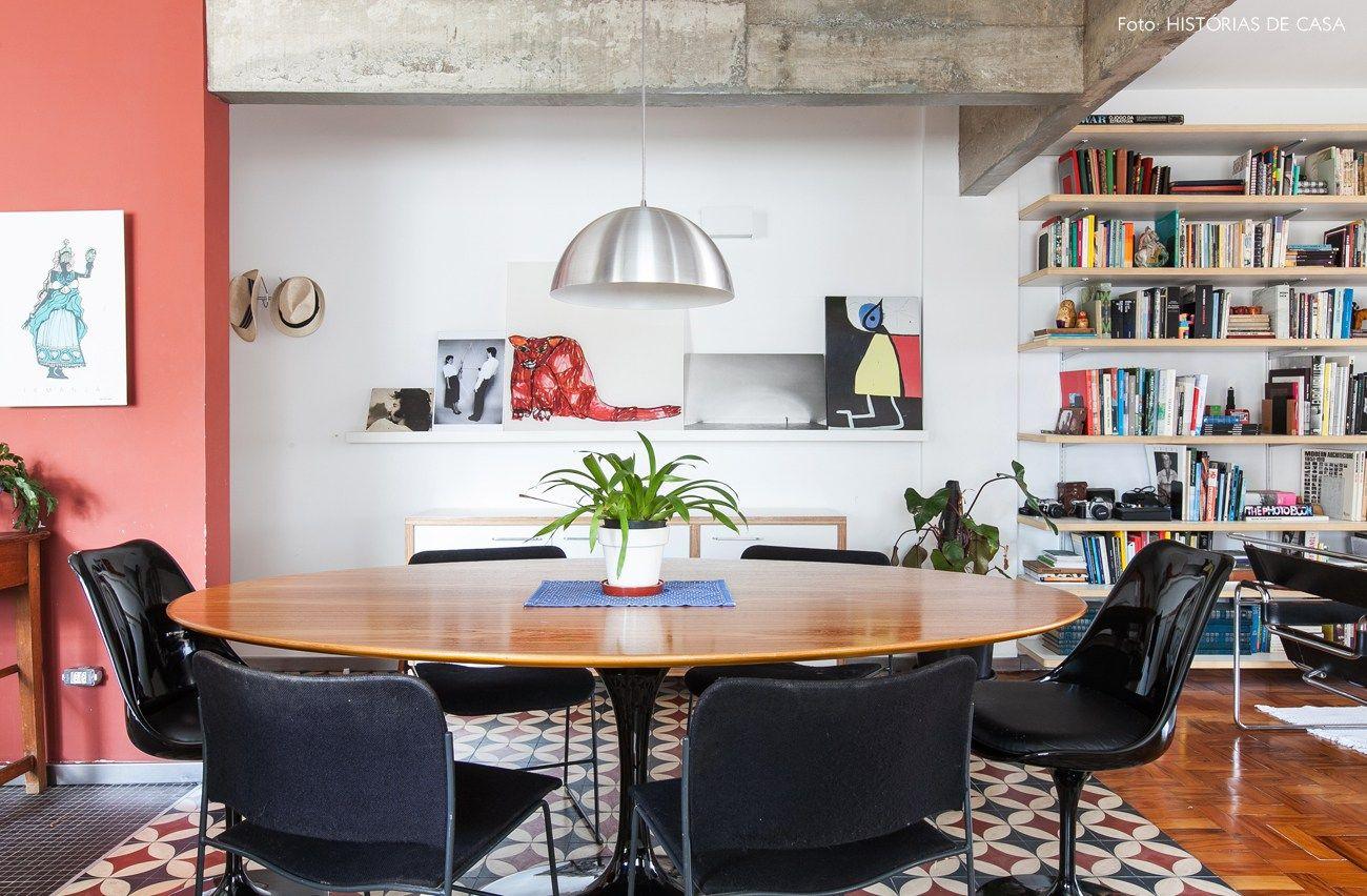 Como Combinar Diferentes Materiais No Mesmo Espa O Hist Ria Sala  -> Acabamento Sala De Jantar