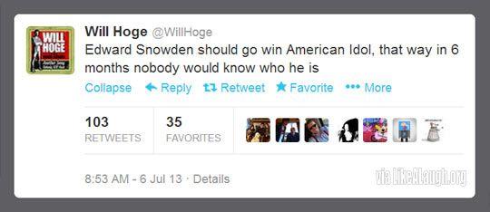 Edward Snowden should win American Idol