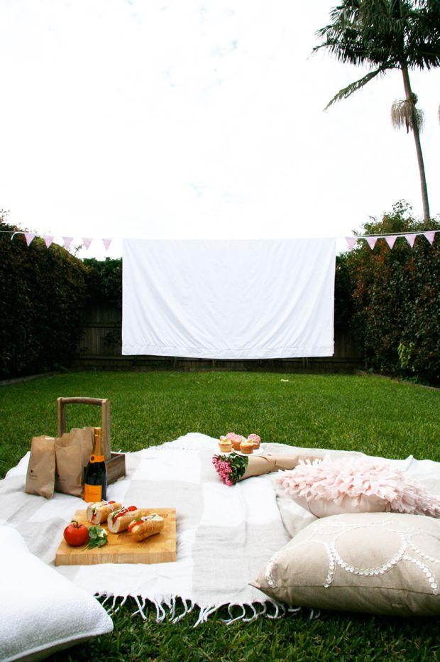 DIY: Mothers Day Outdoor Cinema Picnic | Outdoor cinema, Picnics ...